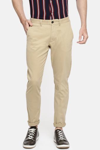 Mens 5 Pocket Slub Casual Trousers