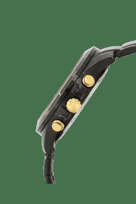 Mens Black Dial Metallic Chronograph Watch - EX208