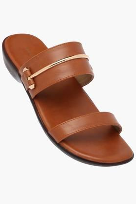 LEMON & PEPPER Womens Daily Wear Slipon Flat Sandal