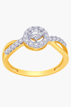 Womens 18 KT Gold and Diamond Ring