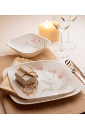 CORELLELillyVille (Set Of 21) - Square Dinner Set