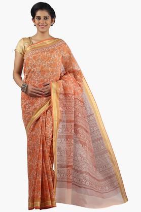 JASHN Women Super Net Printed Saree  ...