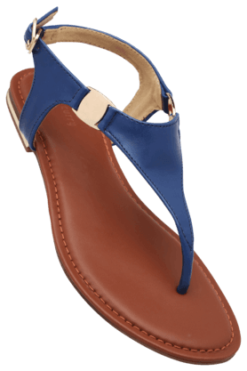 HAUTE CURRYWomens Daily Wear Ankle Buckle Closure Flat Sandal - 200619675
