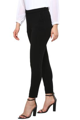 ALLEN SOLLY - Black Trousers & Pants - 2
