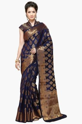 ISHIN Women Banarasi Raw Silk Saree - 202274314