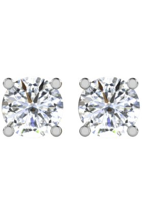SPARKLES His & Her Collection 9 Kt Solitaires Earrings In Gold And Real Diamond 0.25 Cts HHT6312-9KT