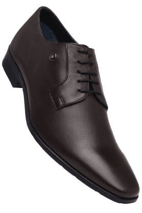 LOUIS PHILIPPE Mens Brown Leather Lace Up Smart Formal Shoe