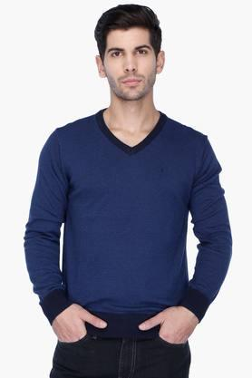 INDIAN TERRAIN Mens Regular Fit Stripe Pullover (Jumper Fit)