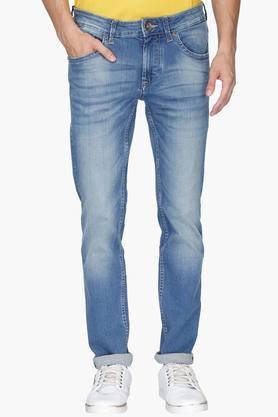FLYING MACHINE Mens 5 Pocket Skinny Fit Heavy Wash Jeans (Jackson Fit) - 202045556