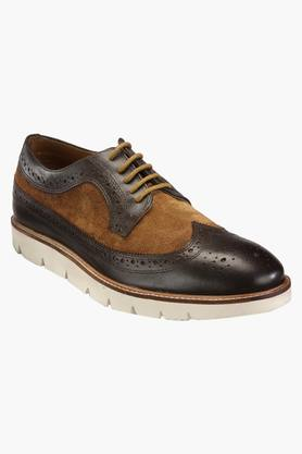 HATS OFF ACCESSORIES Mens Leather Lace Up Casual Shoes