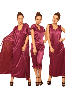 Womens Satin Nightwear Set