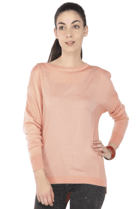 ALLEN SOLLY Women Boat Neck Sweater