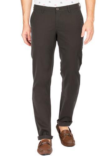 BASICS -  OliveCasual Trousers - Main