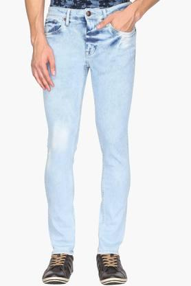 ED HARDY Mens Slim Fit 5 Pocket Stone Wash Jeans - 202161610
