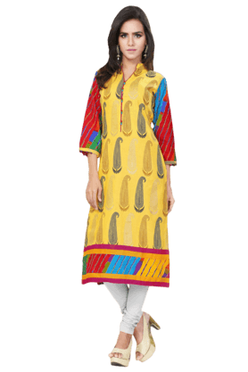 DEMARCA Womens Printed Kurta (Buy Any Demarca Product & Get A Pair Of Matching Earrings Free) - 200936950