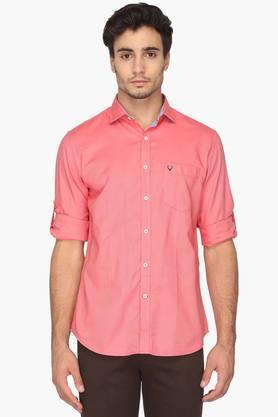 Allen Solly Formal Shirts (Men's) - Mens Slim Fit Solid Shirt