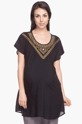 NINE MATERNITY Womens Regular Fit Printed Top