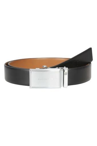 Mens Leather Buckle Closure Formal Web Belt