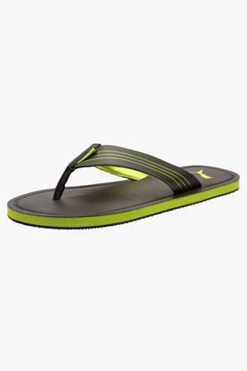 PUMA Mens Slip On Leather Flip Flops