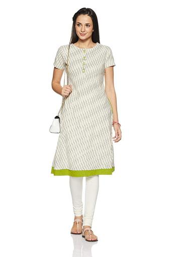 IMARA -  Off White Kurtas - Main