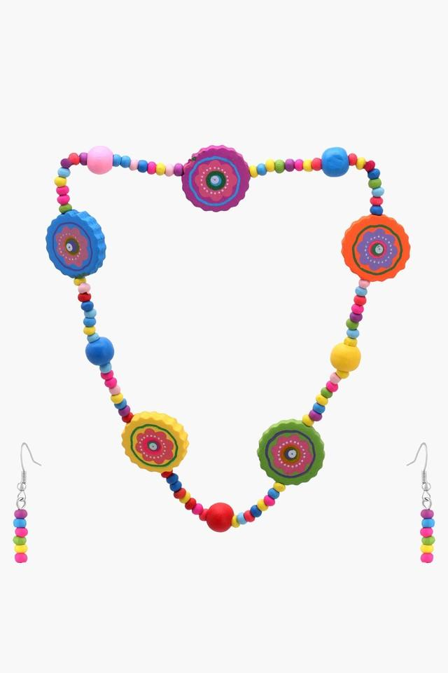 Girls Beads Necklace and Earring Set (Newborn +)