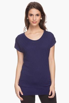 VAN HEUSEN Womens Aztec Stripe Round Neck Top