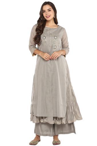 KASHISH -  GreySalwar & Churidar Suits - Main