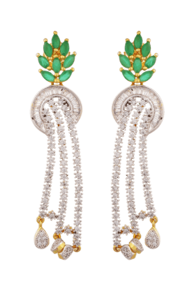 TUAN Gold-plated Designer Drop Earring For Women (IER-325) (Use Code FB20 To Get 20% Off On Purchase Of Rs.1800)
