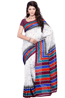 DEMARCA De Marca Multicolor Art Silk Designer DF-392C Saree
