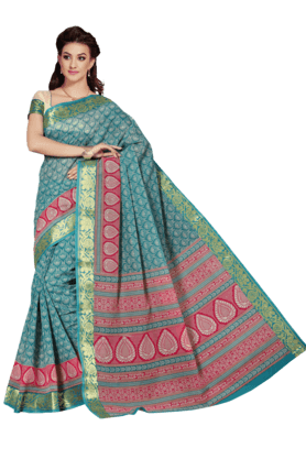 ASHIKA Womens Printed Cotton Saree - 201039468