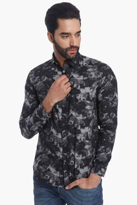 Jack And Jones Formal Shirts (Men's) - Mens Full Sleeves Casual Printed Shirt