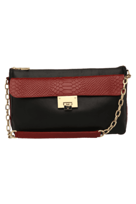 HIDESIGN Womens Dolce Snake Ranch Sling Clutch