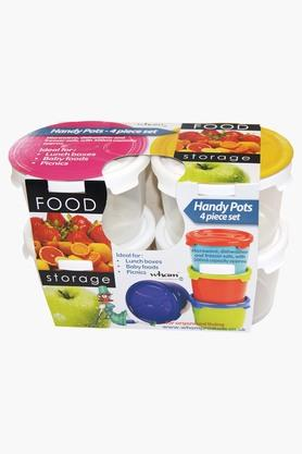 WHATMORE Airtight Food Storage Box With Lid Set Of 4 - 300ml