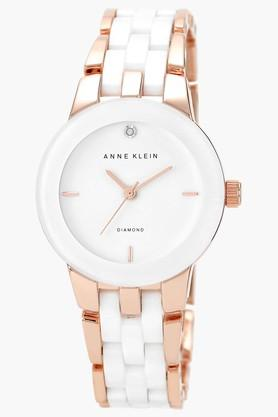 ANNE KLEIN White Glossy Dial Womens Watch- AK1610WTRGJ  ...