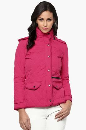THE VANCA Womens Solid Quilted Hooded Jacket - 201743803
