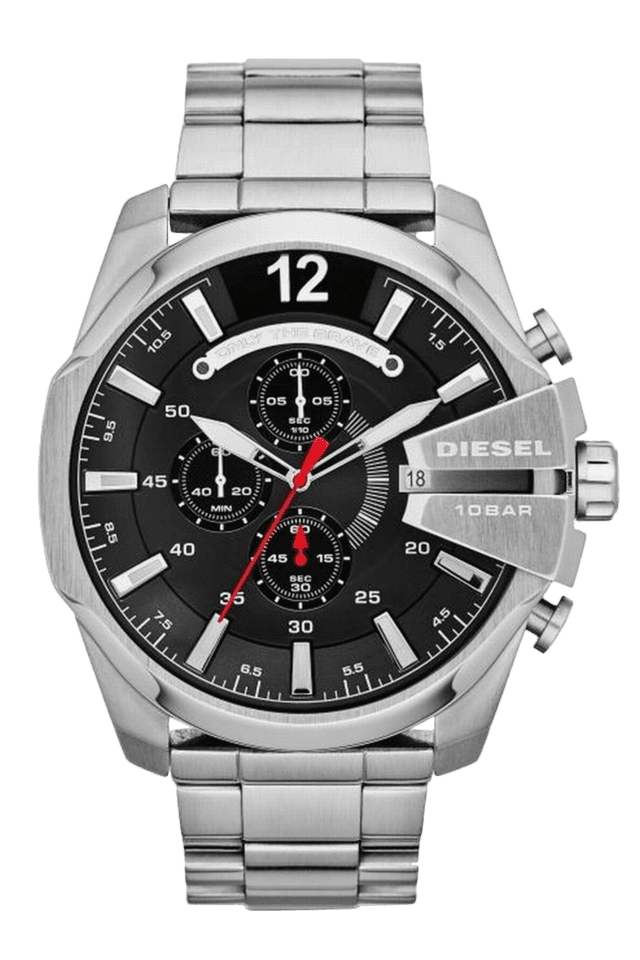 Mens Black Dial Watch Dz4308I