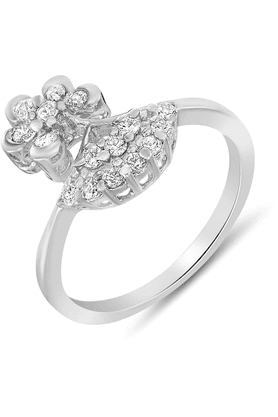 MAHIMahi Rhodium Plated Ultra Chic Ring With CZ Stones For Women FR1100060R