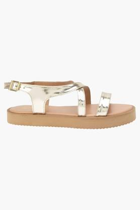 Womens Casual Ankle Buckle Closure Wedge Sandals