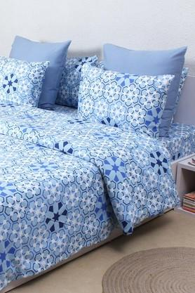 HOUSE THIS The Wily Kaleidoscope 100% Cotton Outer.Inner Polyfill Single Dohar - Blue  ...
