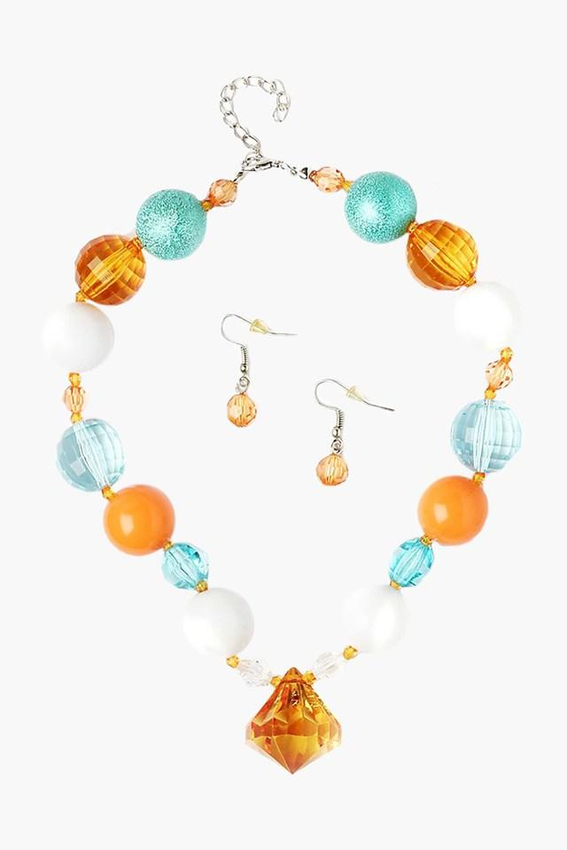 Girls Beads Necklace and Earring Set (2 Years +)