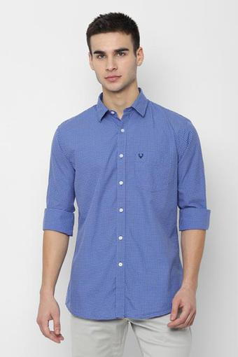 ALLEN SOLLY -  Mid BlueCasual Shirts - Main