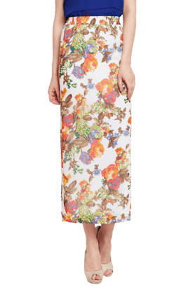 THE VANCA Womens Printed Maxi Skirt