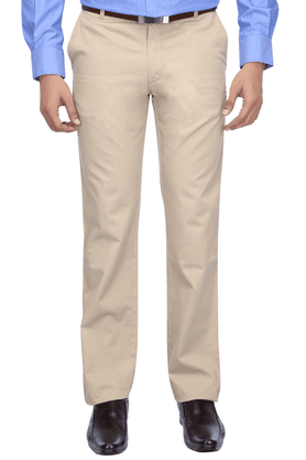 WILSTYMens Flat Front Slim Fit Solid Chinos