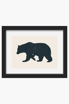 CRUDE AREA Black Bear Printed Art Print (Large)  ...