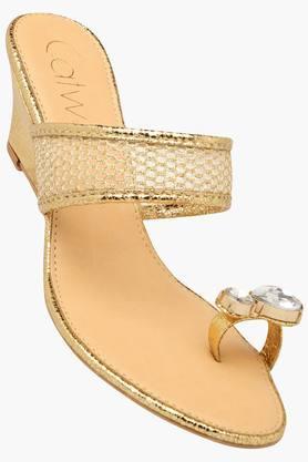 CATWALKWomens Party Wear Slipon Wedge Sandals