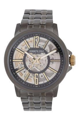 Mens Round Dial Metallic Automatic Watch