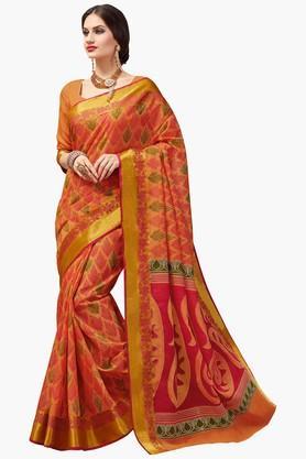 ASHIKAWomens Printed Designer Saree - 201667909