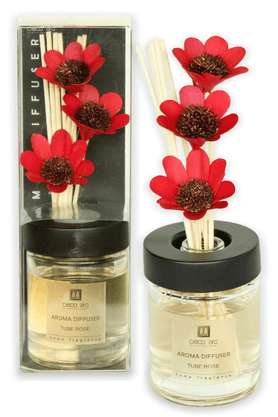 DECO ARO Tuberose Diffuser In Round Glass Bottle (100ml Box)