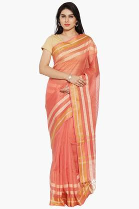 Women Self Zari Chanderi Saree
