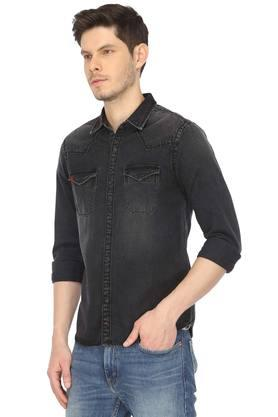 Mens 2 Pocket Washed Shirt